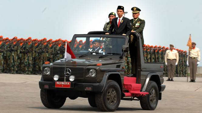 Hadiri HUT TNI ke 75, Presiden Jokowi Sangat Apresiasi TNI