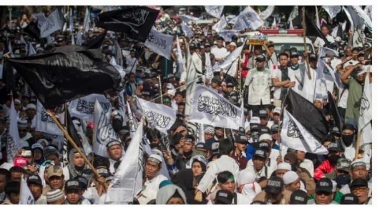Aliansi Ormas Islam Menolak Omnibus Law dan Tuntut Jokowi Mundur Dijaga Ketat